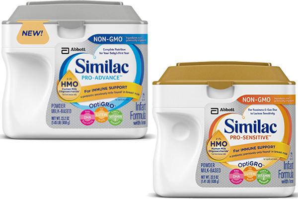 Similac Pro Advance Vs Similac Pro Sensitive 1