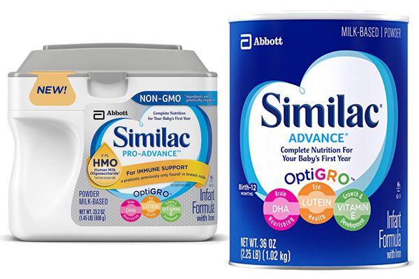 similac pro advance vs similac advance