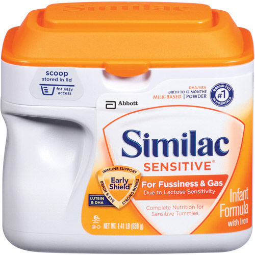 Similac Sensitive Infant Formula with Iron, Powder, 12 oz (Pack of ...