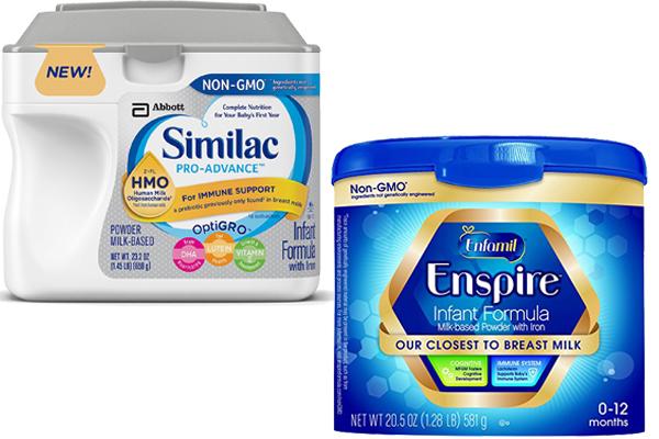 Similac Pro Advance Vs Enfamil Enspire