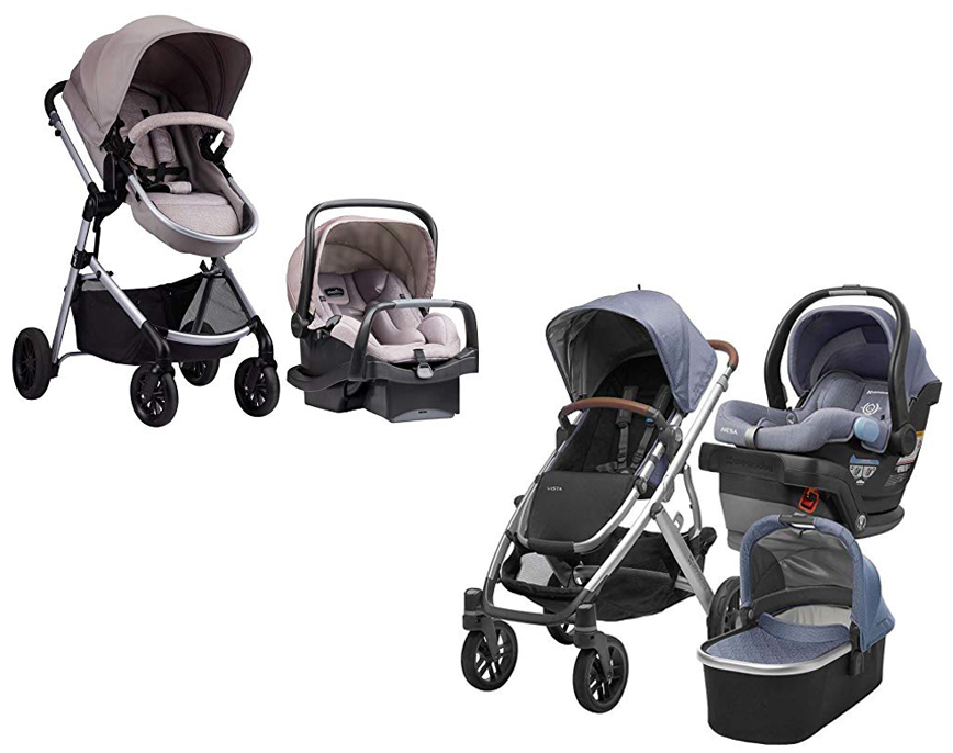 Evenflo Pivot Modular travel system vs UPPAbaby Vista